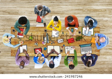 Library University Studying Students Education School Concept - stock photo