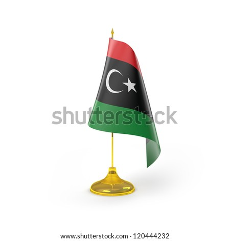 Libya Flag Detail Render - stock photo