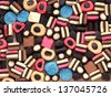 Licorice candy. Colorful sweet background. - stock photo