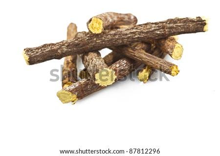 licorice close up on the white - stock photo