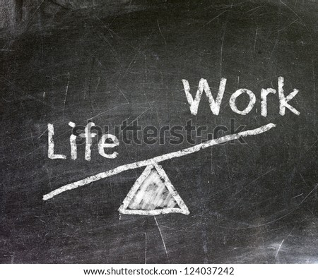 Life and work of your choice written with white chalk on a blackboard