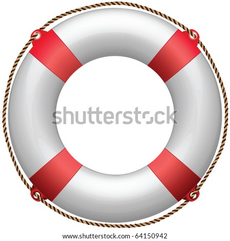 life buoy against white background, abstract art illustration; for vector format please visit my gallery - stock photo