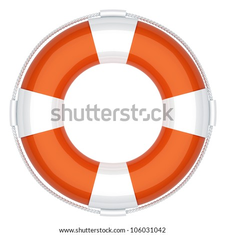 Life buoy. First aid. 3d render illustration - stock photo