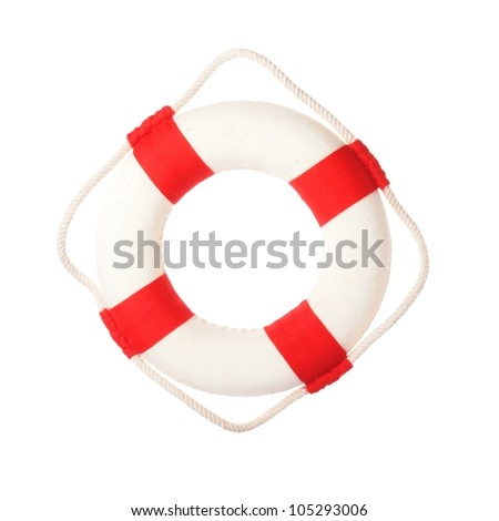 Life buoy with welcome on board on it - stock photo