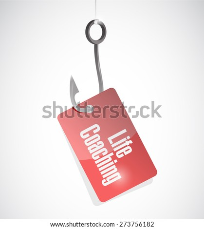 life coaching hook tag sign icon concept illustration design over white - stock photo