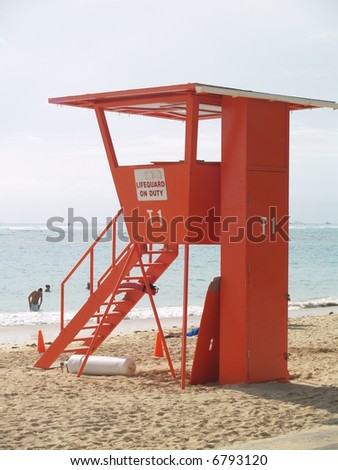 life guard on duty - stock photo