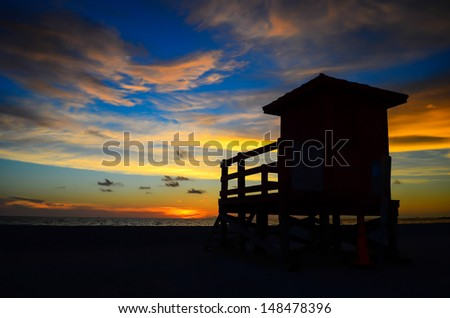 Life guard Tower - stock photo