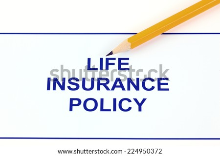 Life insurance policy with pencil. - stock photo