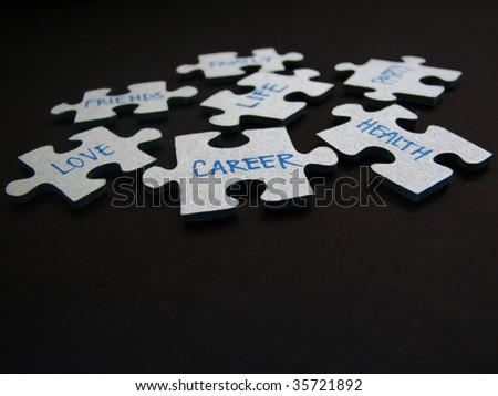 Life Is Like A Puzzle... If you find the right pieces, everything falls into place - stock photo