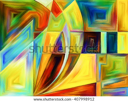 Life of forms series. Abstract design made of abstract forms and shape on the subject of art, painting, design and education - stock photo