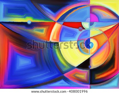 Life of forms series. Composition of abstract forms and shape on the subject of art, painting, design and education - stock photo