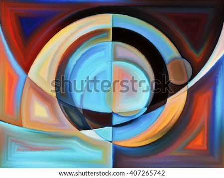 Life of forms series. Composition of abstract forms and shape suitable as a backdrop for the projects on art, painting, design and education - stock photo