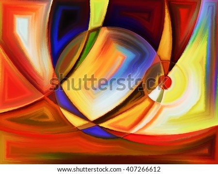 Life of forms series. Composition of abstract forms and shape with metaphorical relationship to art, painting, design and education - stock photo