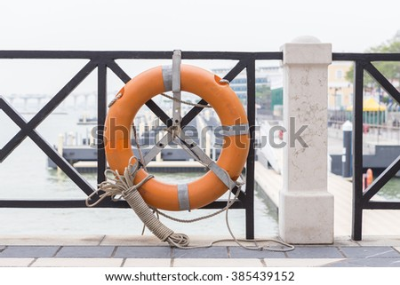 Life Old Rescue Ring Saver - stock photo