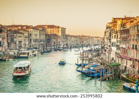Life on the Grand Canal in Venice, Italy