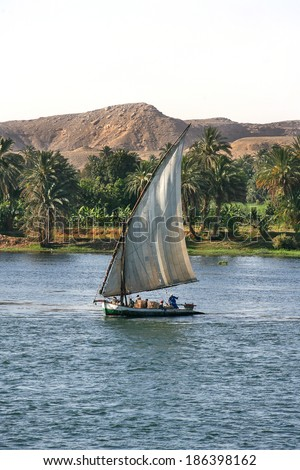 Life on the River Nile - stock photo
