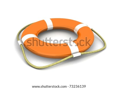 Life preserver. 3d illustration