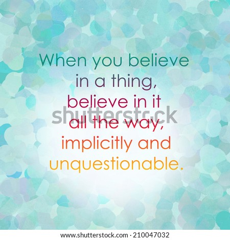 A Quote About Life Fair Inspirational Quotes On Bokeh Light Background Stock Illustration