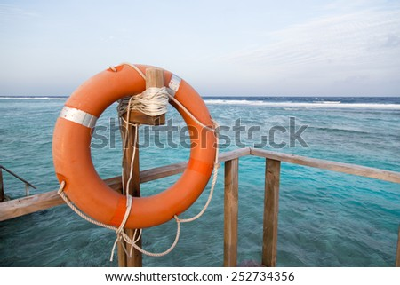 Life Safer Life Buoy  at the sea