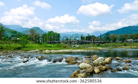 Life with Nature in Khee Ree Wong Village, Nakhon Sri Thammarat, Thailand The Best Ozone Area in Thailand - stock photo