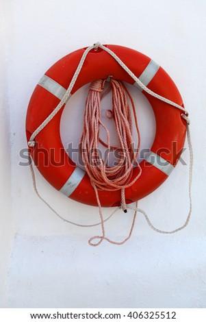 lifebelt - stock photo
