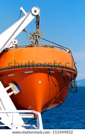 Lifeboat - stock photo