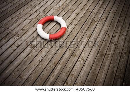 lifebuoy 11. - stock photo