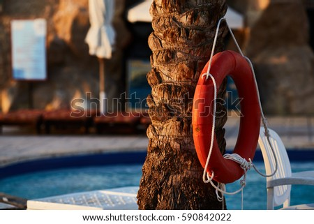 Lifebuoy Pool All Water Rescue Emergency Stock Photo 590842022 Shutterstock