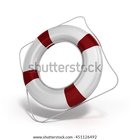lifebuoy 3d illustration on a white background - stock photo