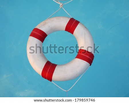 Lifebuoy in Swimming pool