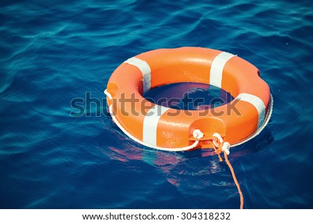 lifebuoy, life preserver - stock photo