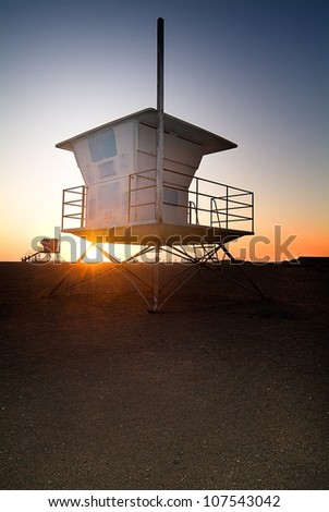 Lifeguard station in Southern California
