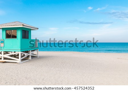 Lifeguard Tower in Venice Beach, Florida - stock photo