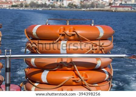 lifesaver object - stock photo
