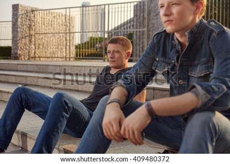 Lifestyle photoshoot skateboard guy with practis boarding in the city - stock photo