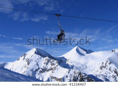 lift on Bansko ski resort