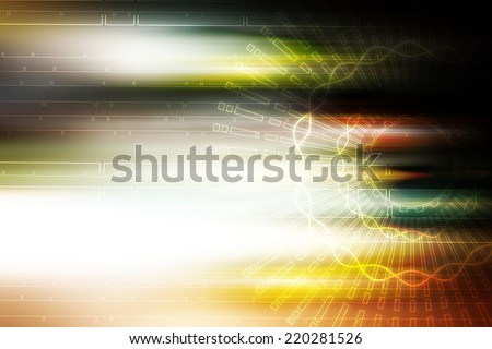 light aura motion technology illustration background - stock photo