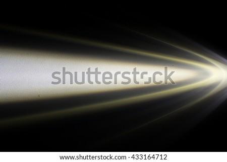 Light beam at night. - stock photo