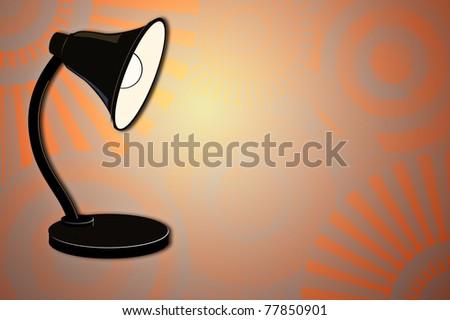 Light beam from lamp - stock photo