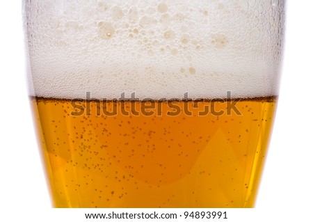 Light beer. Photo pour beer into a glass