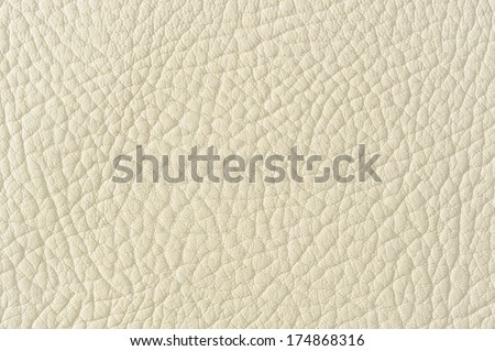 Light Beige Patterned Faux Leather Background Texture - stock photo