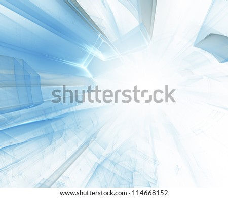 Light blue abstract background - stock photo