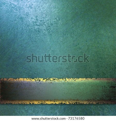 light blue background paper with faint grunge texture and sponging, soft highlights, matching ribbon stripe and copy space - stock photo