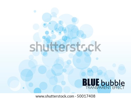 light blue bubble background with transparent effect and copyspace - stock photo