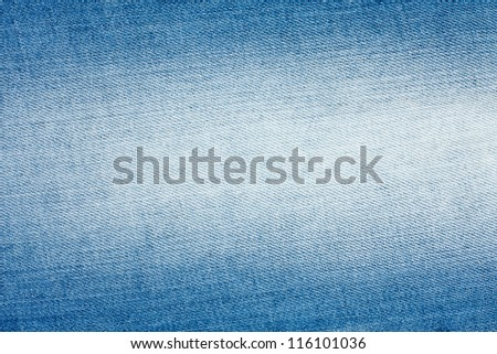 Light blue denim fabric - stock photo