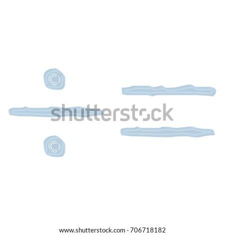 Light Blue Glass Equals Division Symbol Stock Illustration 706718182