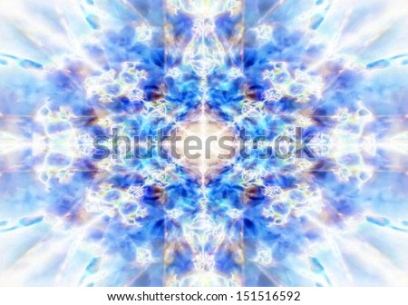 Light blue kaleidoscope background pattern - stock photo