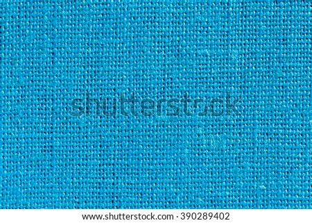 Light blue Linen Fabric Background with clear Canvas Texture Close Up
