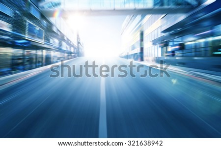 light blue motion blur background - stock photo