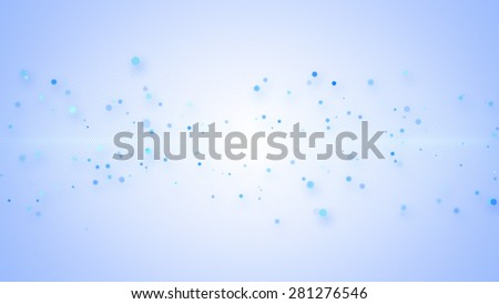 light blue particles on striped background. Computer generated abstract illustration - stock photo